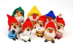 Grupo de Natal de madeira Elve Fotos de Stock Royalty Free