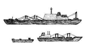 Grupo de navio Imagem de Stock