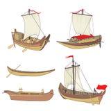Grupo de navios antigos Fotos de Stock