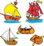 Grupo de navios pequenos Imagens de Stock