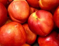 Grupo de nectarina frescas Fotos de Stock