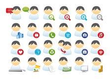 Grupo de negócio do ícone Fotografia de Stock