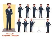 Grupo de negócio e caráter incorporado ilustração royalty free