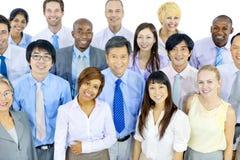 Grupo de negocio Team Smiling Foto de archivo libre de regalías