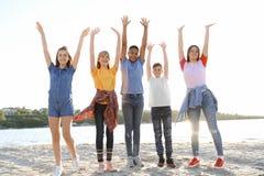 Grupo de niños al aire libre el día soleado Imagen de archivo
