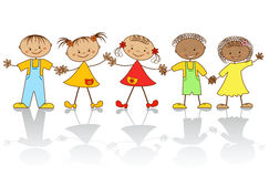 Grupo de niños felices. Imágenes de archivo libres de regalías