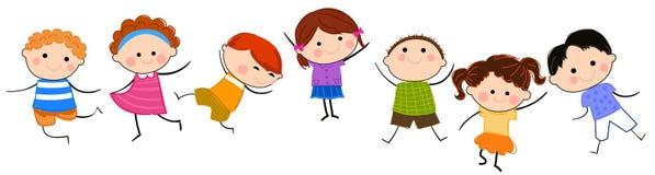Grupo de niños que se divierten ilustración del vector