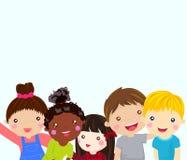 Grupo de niños que se divierten stock de ilustración