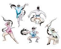 Grupo de ninjas Fotos de Stock Royalty Free