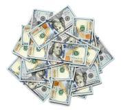 Grupo de notas de dólar dos E.U. 100 Fotografia de Stock Royalty Free