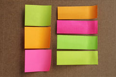 Grupo de notas pegajosas coloridas Fotografia de Stock Royalty Free