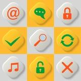 Grupo de nove ícones da Web ilustração royalty free