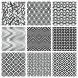 Grupo de nove testes padrões geométricos ilustração do vetor