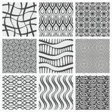 Grupo de nove testes padrões geométricos ilustração stock
