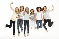 Grupo de novias adolescentes Fotos de archivo libres de regalías