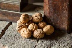 Grupo de nueces Foto de archivo libre de regalías