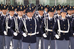 Grupo de oficiais não-informados durante uma celebração Imagem de Stock