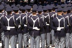 Grupo de oficiais não-informados durante uma celebração Fotos de Stock