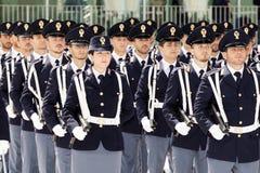 Grupo de oficiais não-informados durante uma celebração Fotos de Stock Royalty Free