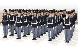 Grupo de oficiais não-informados durante uma celebração Colhido no whi Imagem de Stock