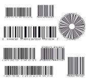 Grupo de oito códigos de barras Fotos de Stock Royalty Free
