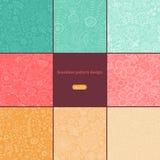 Grupo de oito testes padrões florais coloridos (sem emenda telhar) Seamle ilustração stock