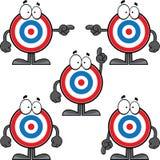 Grupo de olho de touros dos desenhos animados Imagem de Stock