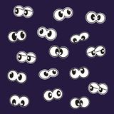 Grupo de olhos, ícone louco do vetor ilustração do vetor