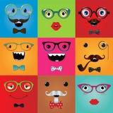 Grupo de olhos engraçados do monstro do moderno Foto de Stock