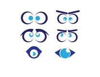 Grupo de olhos engraçados dos desenhos animados Foto de Stock Royalty Free