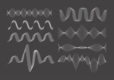 Grupo de ondas sadias do vetor Imagens de Stock
