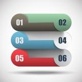 Grupo de opções horizontais abstratas do negócio Fotos de Stock