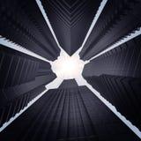 Grupo de opinión de los rascacielos de debajo ilustración del vector