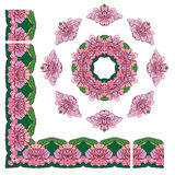 Grupo de ornamento - círculo e quadros retangulares Imagens de Stock Royalty Free