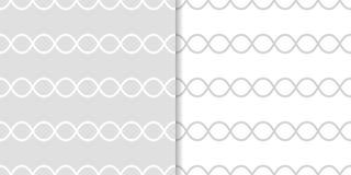 Grupo de ornamento geométricos Luz - testes padrões sem emenda cinzentos Foto de Stock Royalty Free
