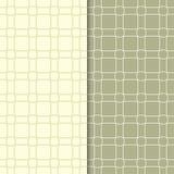 Grupo de ornamento geométricos Testes padrões sem emenda do verde azeitona Foto de Stock