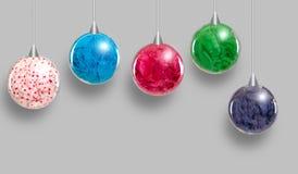 Grupo de ornamentos coloridos de la ejecución Imágenes de archivo libres de regalías