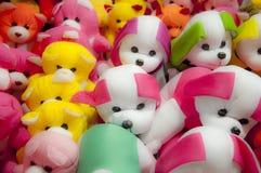 Grupo de oso y de perros de peluche Imágenes de archivo libres de regalías
