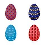 Grupo de ovos da páscoa ilustração royalty free
