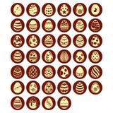 Grupo de ovos da páscoa Fotografia de Stock