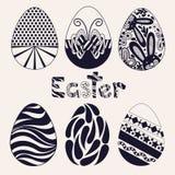 Grupo de ovos da páscoa Imagens de Stock