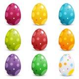 Grupo de ovos da páscoa coloridos Imagens de Stock