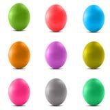 Grupo de ovos da páscoa coloridos Foto de Stock Royalty Free