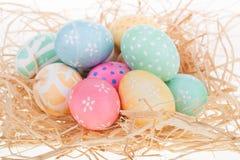 Grupo de ovos da páscoa de Deorated imagem de stock royalty free