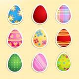 Grupo de ovos da páscoa ilustração stock