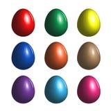 Grupo de ovos da páscoa do vetor Imagens de Stock