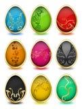 Grupo de ovos da páscoa. Vetor ilustração royalty free