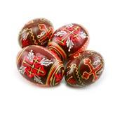 Grupo de ovos de Easter pintados isolados Imagens de Stock Royalty Free