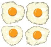grupo do vetor de ovos fritos deliciosos para o café da manhã Imagem de Stock Royalty Free