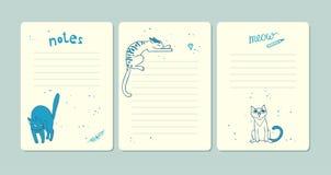 Grupo de páginas para notas Imagem de Stock
